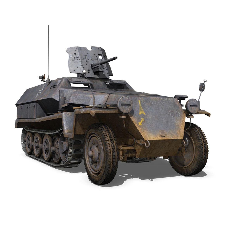 sdkfz 251 ausf.c – hanomag half-track – 23pd 3d model 3ds fbx lwo lw lws obj c4d 306013