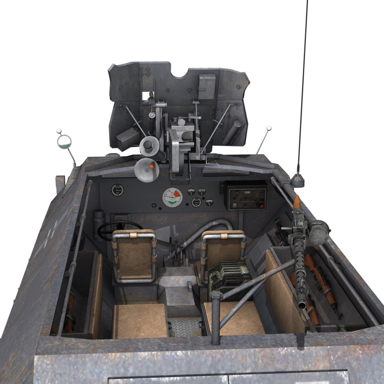 sdkfz 251 ausf.c – hanomag half-track – 23pd 3d model 3ds fbx lwo lw lws obj c4d 306014