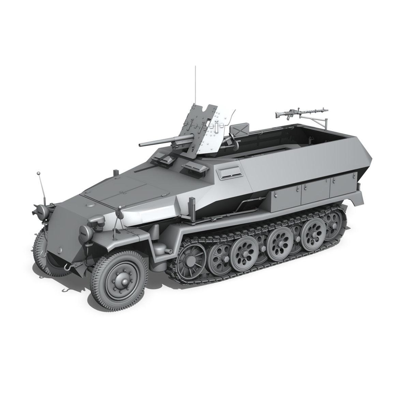 sdkfz 251 ausf.c – hanomag half-track – 23pd 3d model 3ds fbx lwo lw lws obj c4d 306016