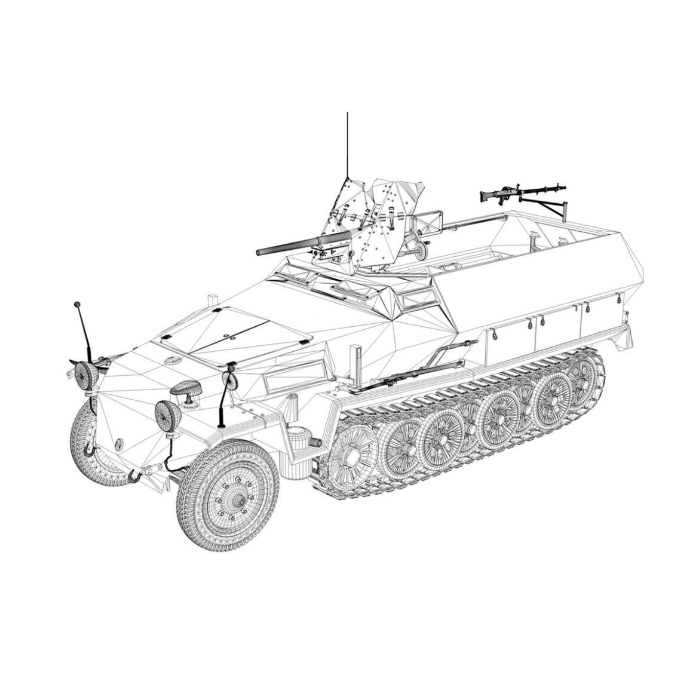 sdkfz 251 ausf.c – hanomag half-track – 23pd 3d model 3ds fbx lwo lw lws obj c4d 306017