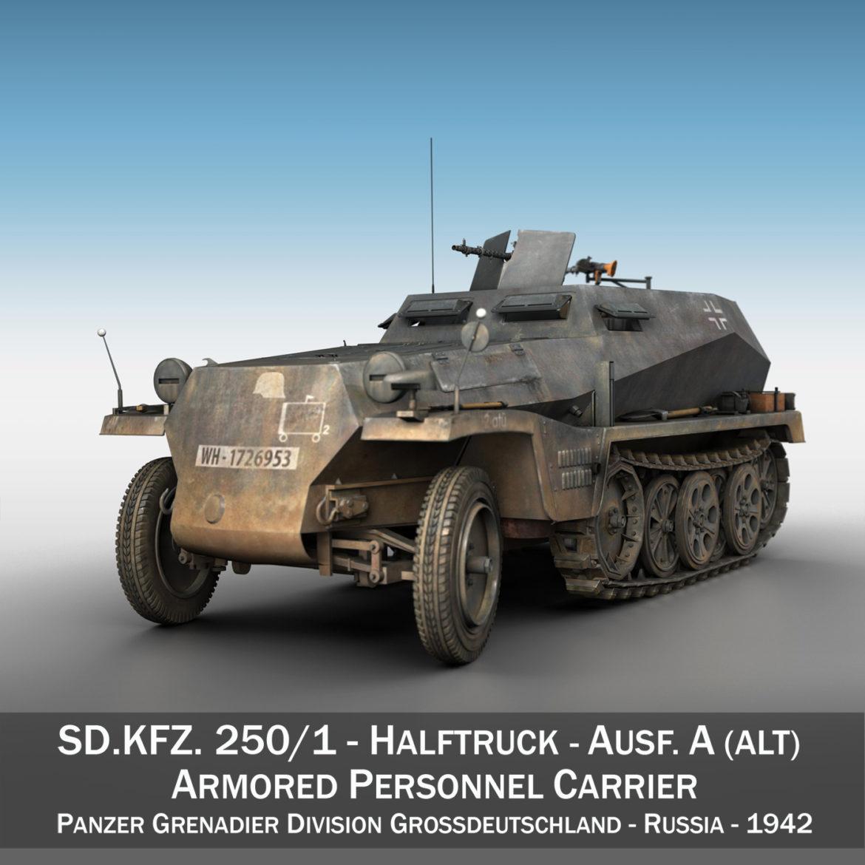 sdkfz 250 - spzb 41 - pzgrendiv 3d загвар 3ds c4d fbx lwo lws obj 306028