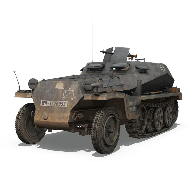 sdkfz 250 - spzb 41 - pzgrendiv 3d загвар 3ds c4d fbx lwo lws obj 306029
