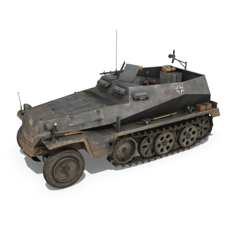 sdkfz 250 - spzb 41 - pzgrendiv 3d загвар 3ds c4d fbx lwo lws obj 306030