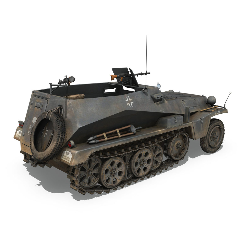 sdkfz 250 – halftruck with spzb 41 – pzgrendiv 3d model 3ds c4d fbx lwo lw lws obj 306033