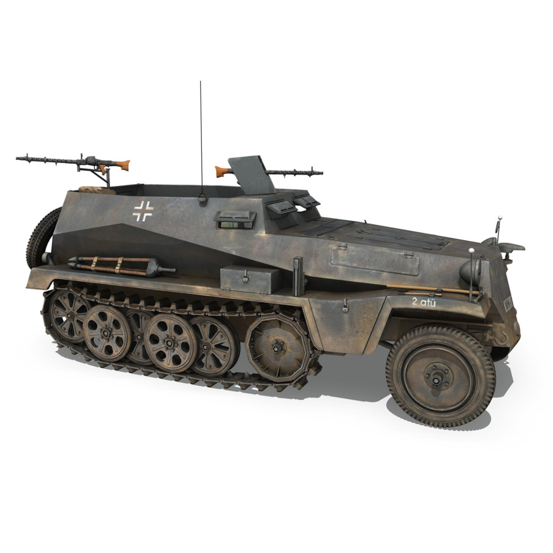 sdkfz 250 - spzb 41 - pzgrendiv 3d загвар 3ds c4d fbx lwo lws obj 306034