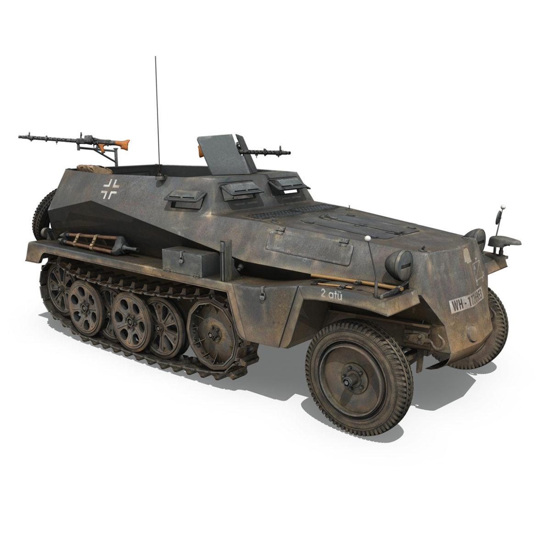 sdkfz 250 – halftruck with spzb 41 – pzgrendiv 3d model 3ds c4d fbx lwo lw lws obj 306035