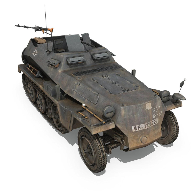 sdkfz 250 – halftruck with spzb 41 – pzgrendiv 3d model 3ds c4d fbx lwo lw lws obj 306036