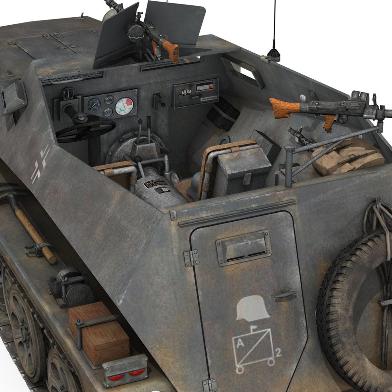 sdkfz 250 – halftruck with spzb 41 – pzgrendiv 3d model 3ds c4d fbx lwo lw lws obj 306037