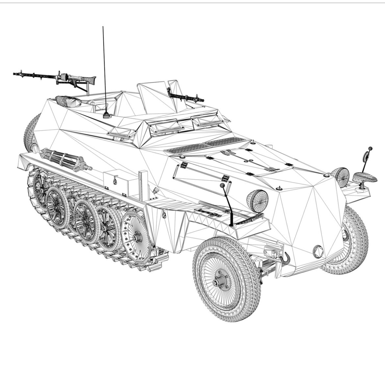 sdkfz 250 – halftruck with spzb 41 – pzgrendiv 3d model 3ds c4d fbx lwo lw lws obj 306040
