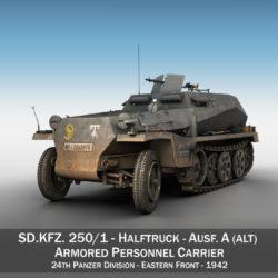 sdkfz 250 - halftruck - 24pd 3d загвар 3ds c4d fbx lwo lws obj 306047