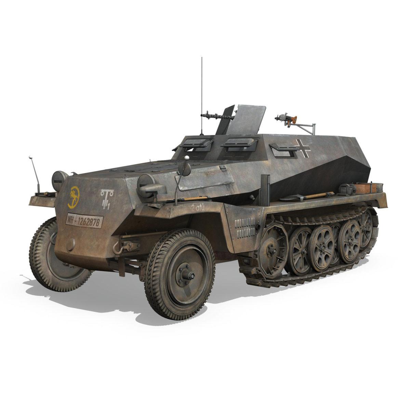 sdkfz 250 – halftruck – 24pd 3d model 3ds c4d fbx lwo lw lws obj 306048