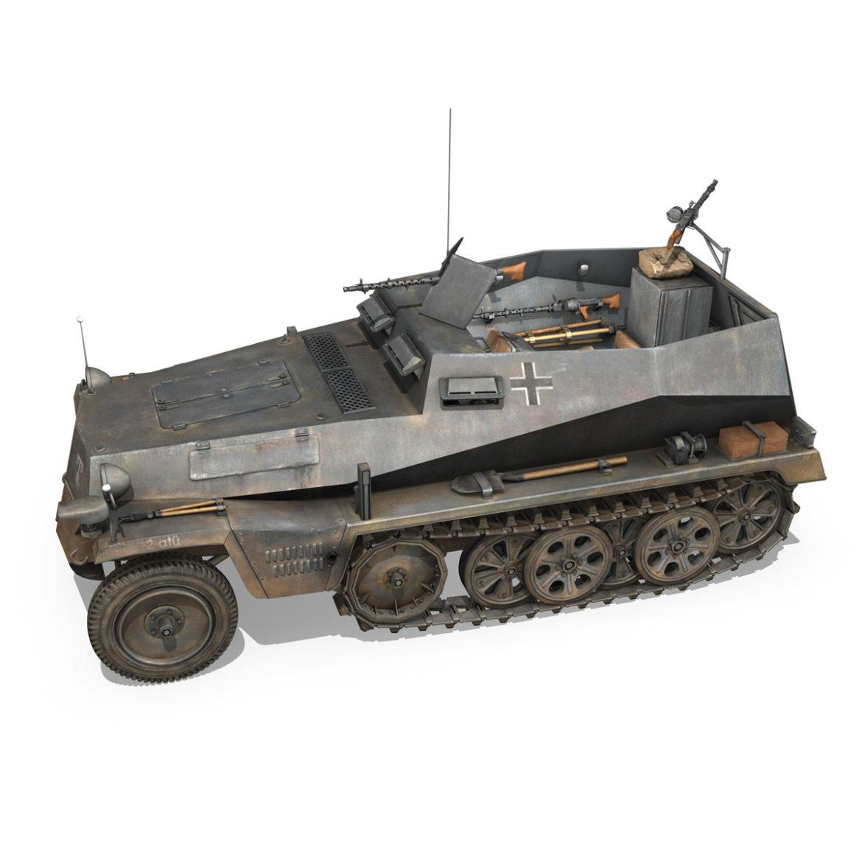 sdkfz 250 – halftruck – 24pd 3d model 3ds c4d fbx lwo lw lws obj 306049