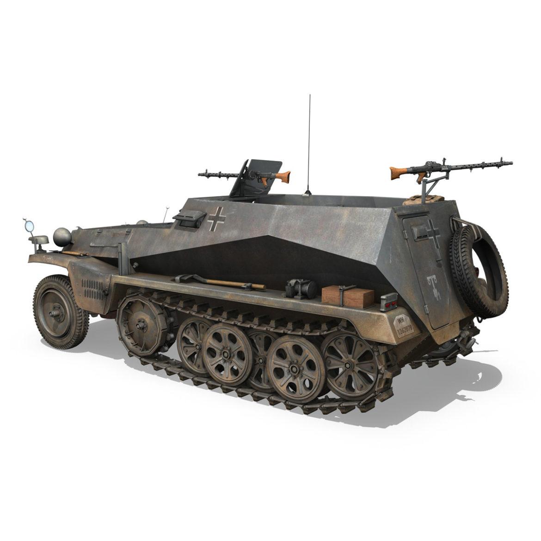 sdkfz 250 – halftruck – 24pd 3d model 3ds c4d fbx lwo lw lws obj 306050