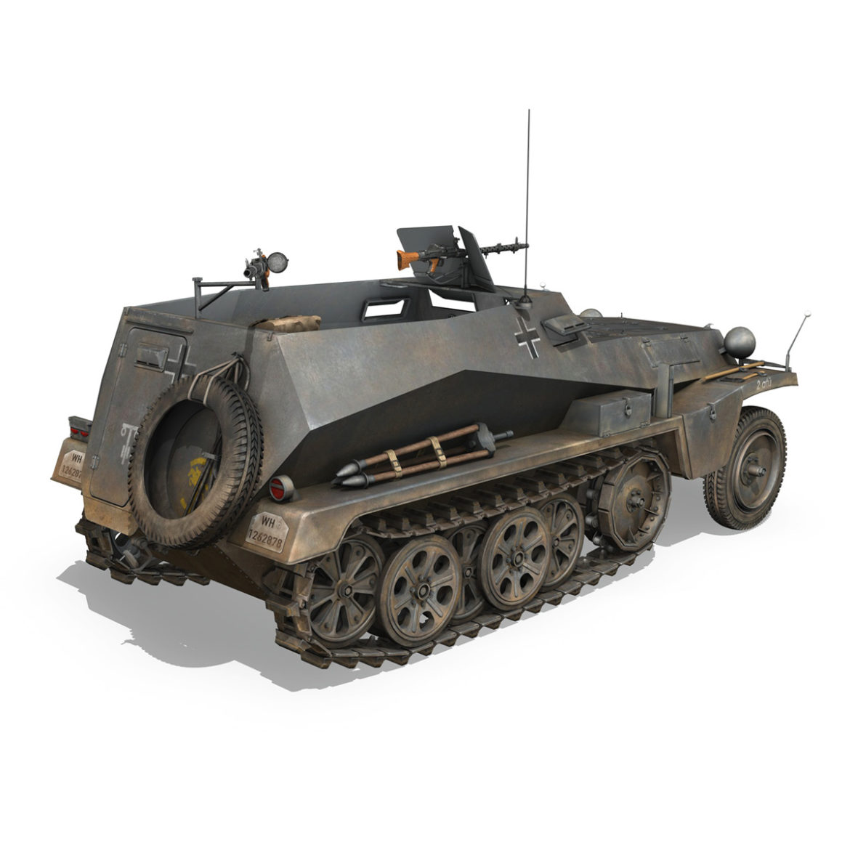 sdkfz 250 – halftruck – 24pd 3d model 3ds c4d fbx lwo lw lws obj 306051