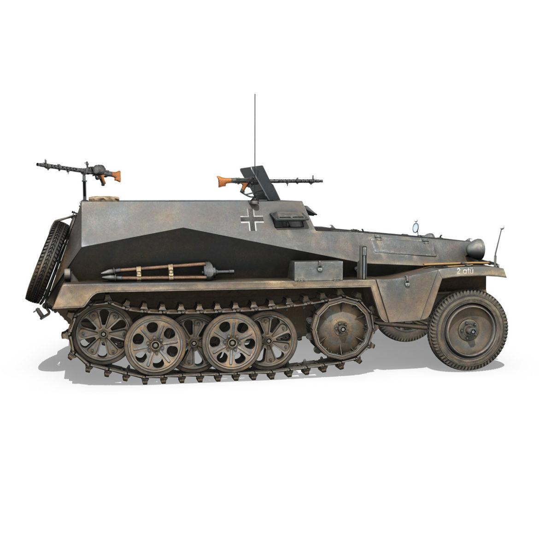 sdkfz 250 – halftruck – 24pd 3d model 3ds c4d fbx lwo lw lws obj 306052