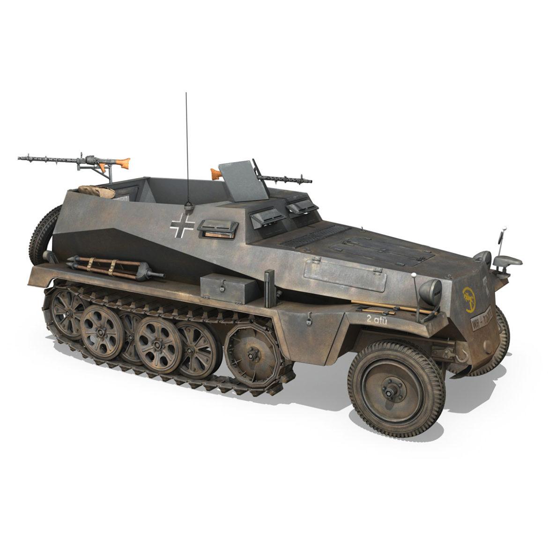 sdkfz 250 – halftruck – 24pd 3d model 3ds c4d fbx lwo lw lws obj 306053