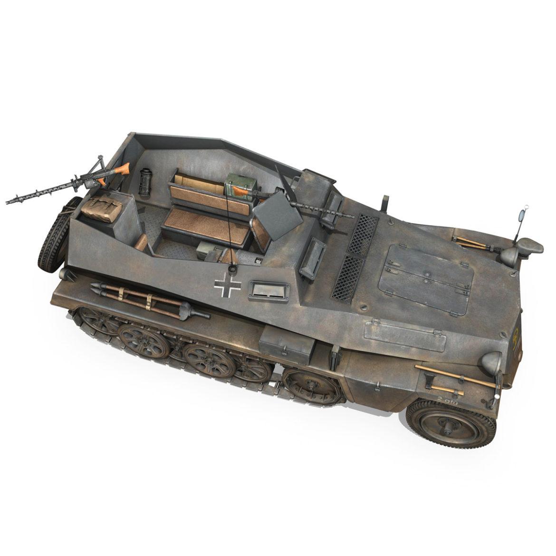 sdkfz 250 – halftruck – 24pd 3d model 3ds c4d fbx lwo lw lws obj 306054