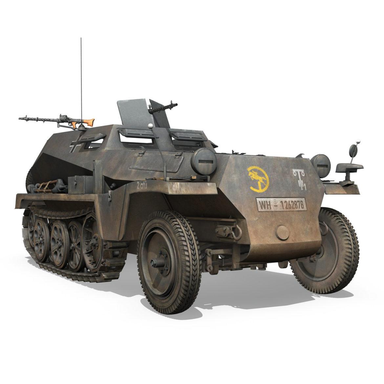 sdkfz 250 - halftruck - Model 24pd 3d 3D c4d fbx lwo lw lw lj lw