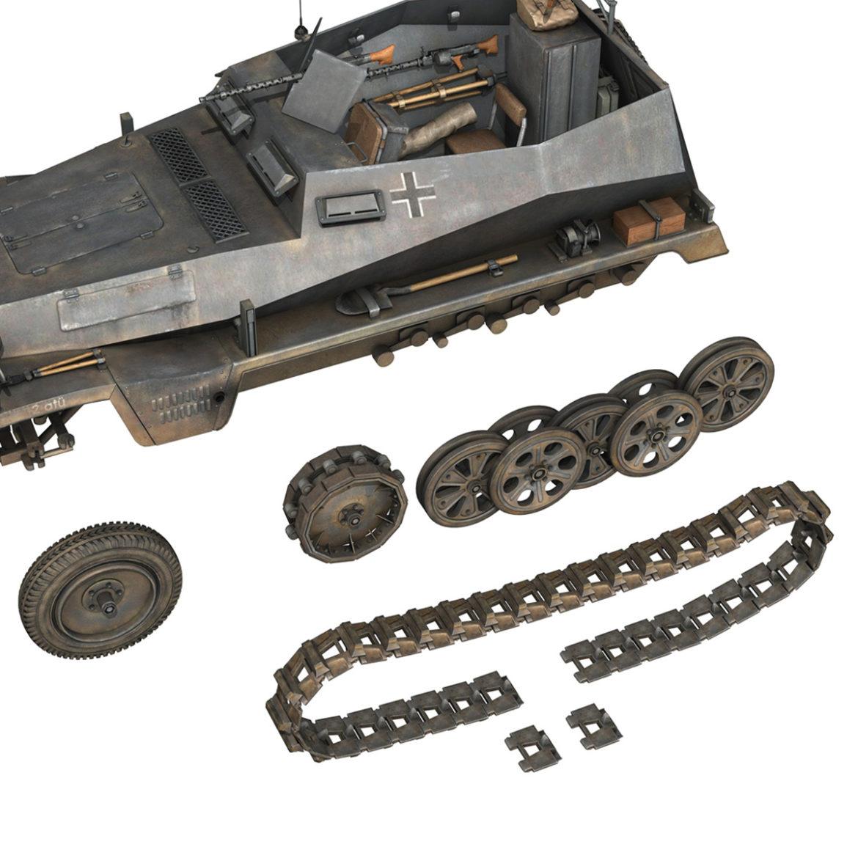 sdkfz 250 – halftruck – 24pd 3d model 3ds c4d fbx lwo lw lws obj 306056