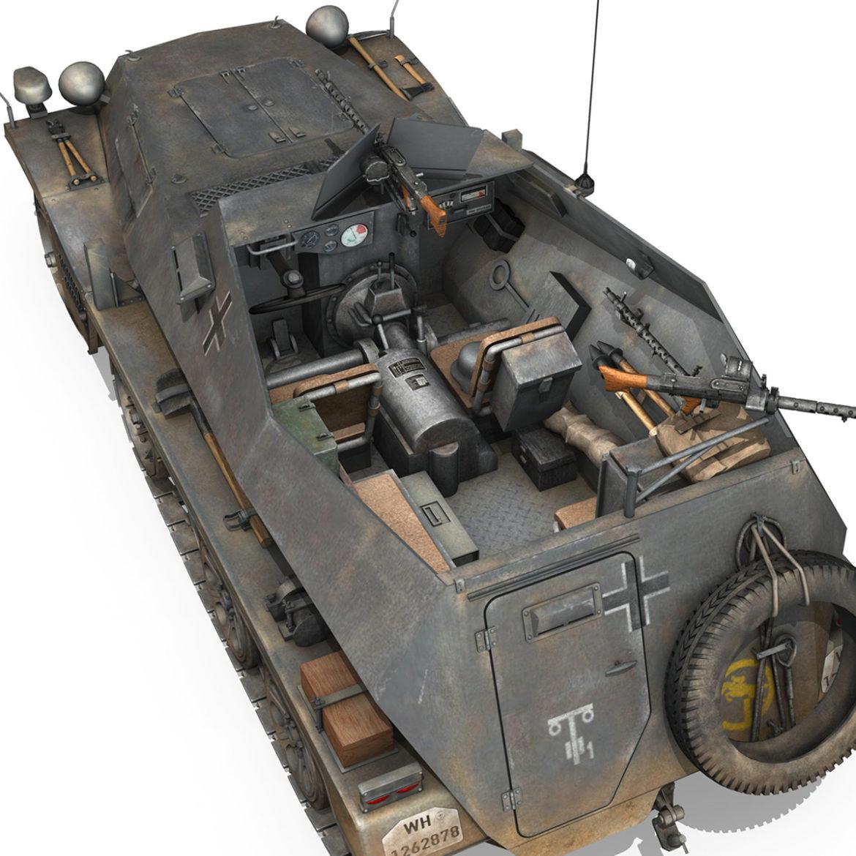 sdkfz 250 – halftruck – 24pd 3d model 3ds c4d fbx lwo lw lws obj 306057