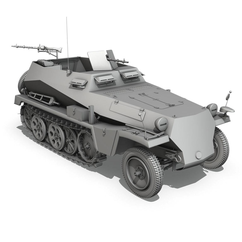 sdkfz 250 – halftruck – 24pd 3d model 3ds c4d fbx lwo lw lws obj 306058
