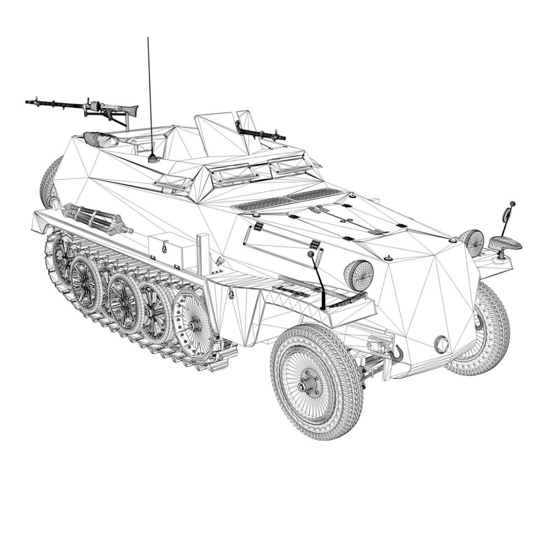 sdkfz 250 – halftruck – 24pd 3d model 3ds c4d fbx lwo lw lws obj 306059