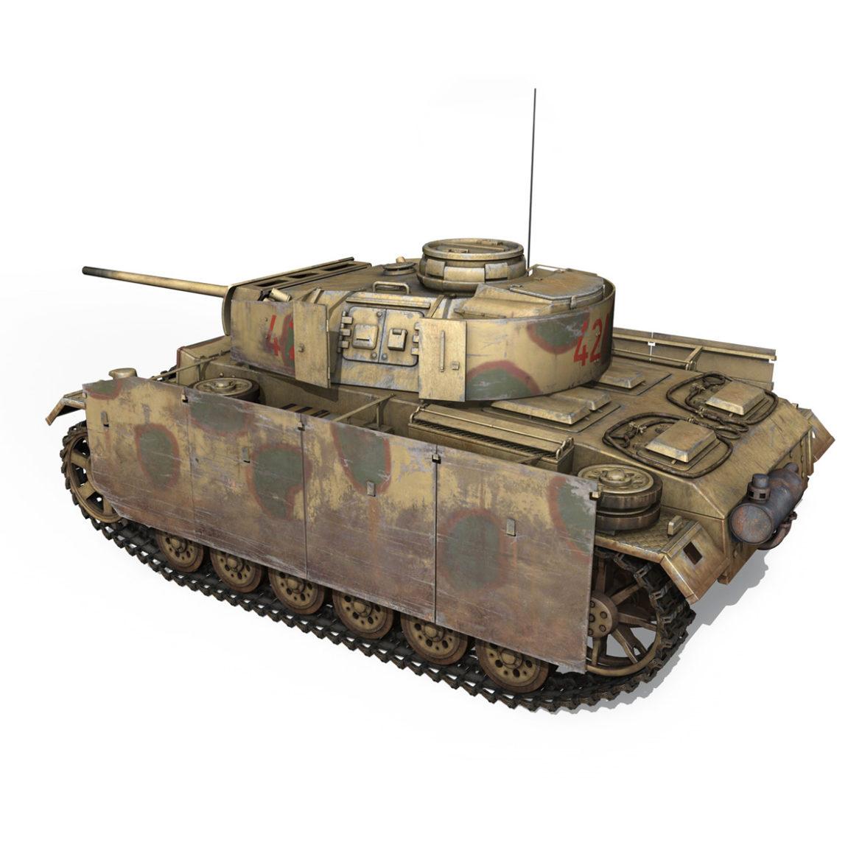 pzkpfw iii – panzer 3 – ausf.m – 421 3d model 3ds lwo lw lws obj c4d 306068