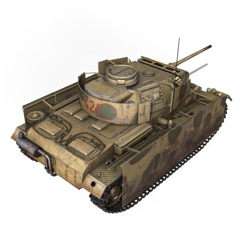 pzkpfw iii – panzer 3 – ausf.m – 421 3d model 3ds lwo lw lws obj c4d 306070