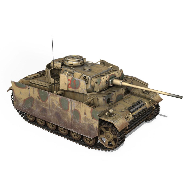pzkpfw iii – panzer 3 – ausf.m – 421 3d model 3ds lwo lw lws obj c4d 306072