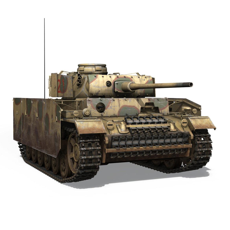 pzkpfw iii – panzer 3 – ausf.m – 421 3d model 3ds lwo lw lws obj c4d 306073