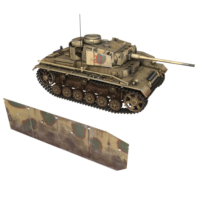 pzkpfw iii – panzer 3 – ausf.m – 421 3d model 3ds lwo lw lws obj c4d 306074