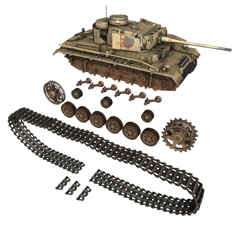 pzkpfw iii – panzer 3 – ausf.m – 421 3d model 3ds lwo lw lws obj c4d 306075