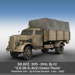 blitz opel - 21 panzer-section 3d model 3ds c4d fbx lwo lw lws obj 306085