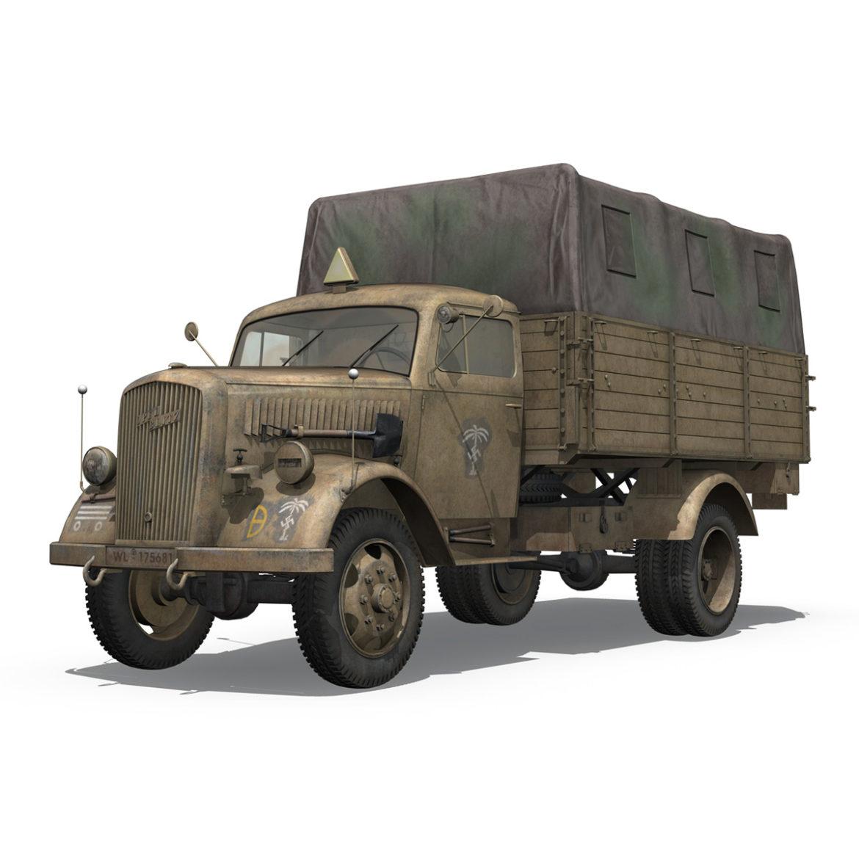 blitz opel - 21 panzer-section 3d model 3ds c4d fbx lwo lw lws obj 306086