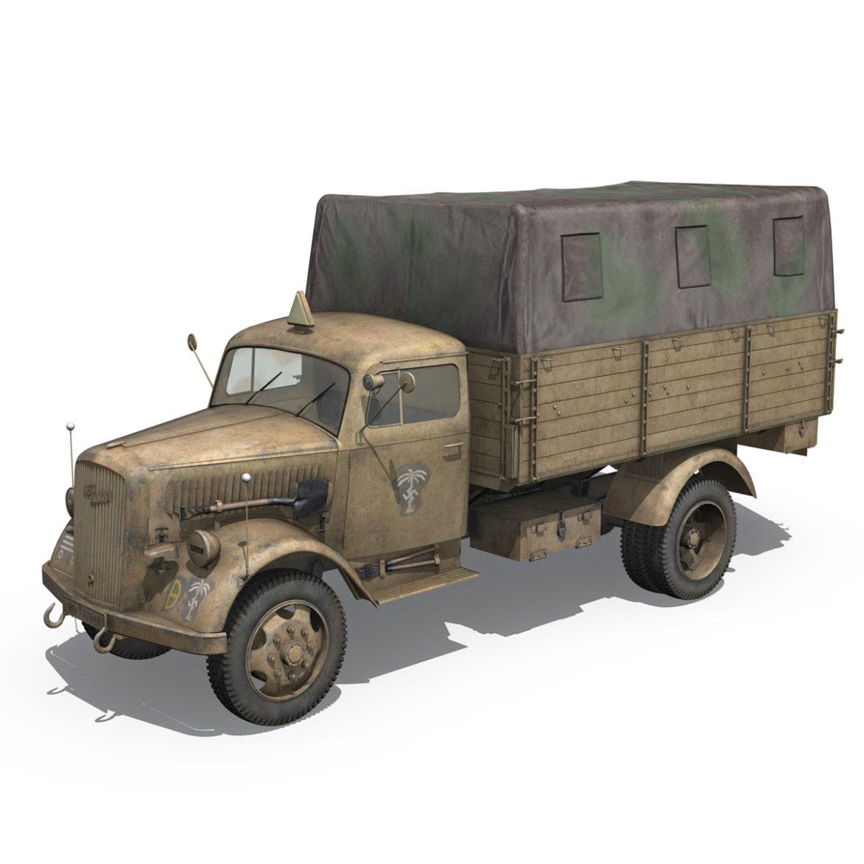 blitz opel - 21 panzer-section 3d model 3ds c4d fbx lwo lw lws obj 306087