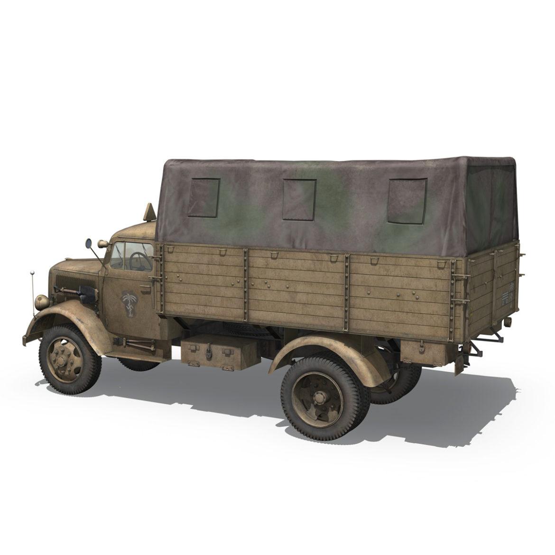 blitz opel - 21 panzer-section 3d model 3ds c4d fbx lwo lw lws obj 306088