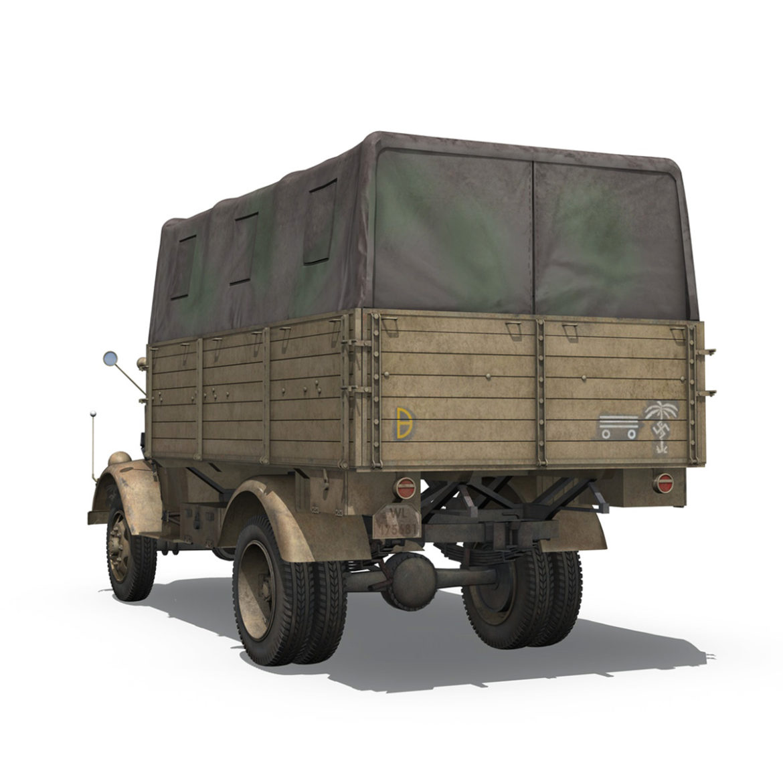 blitz opel - 21 panzer-section 3d model 3ds c4d fbx lwo lw lws obj 306089