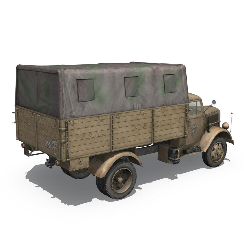 blitz opel - 21 panzer-section 3d model 3ds c4d fbx lwo lw lws obj 306090