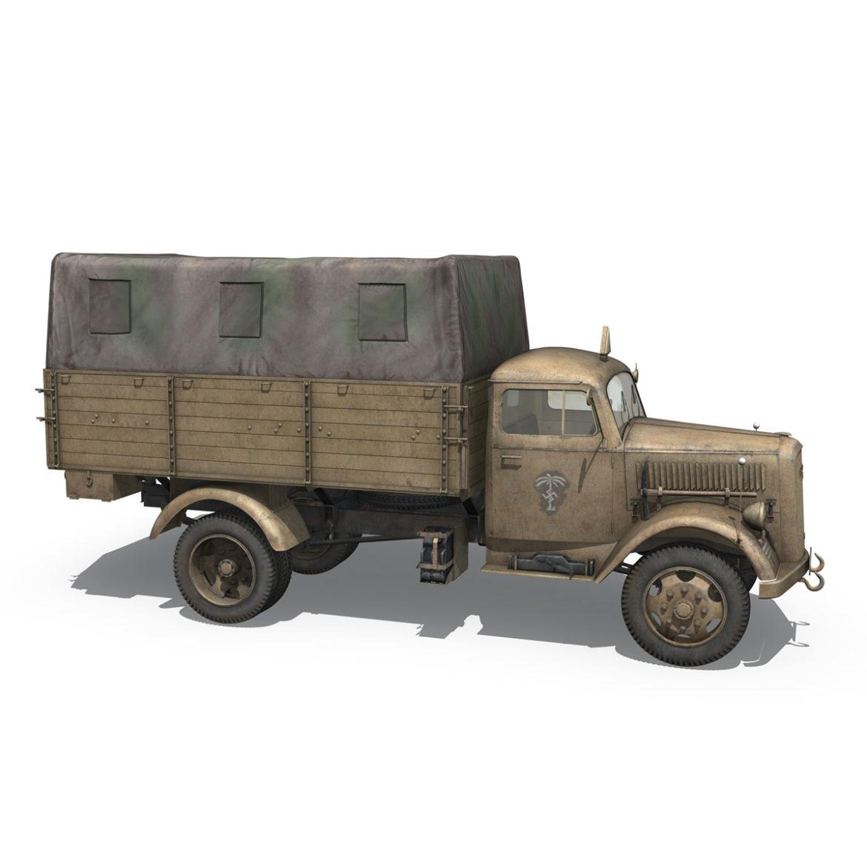 blitz opel - 21 panzer-section 3d model 3ds c4d fbx lwo lw lws obj 306091