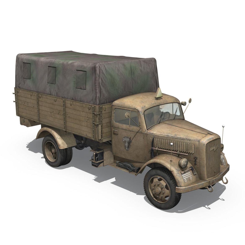blitz opel - 21 panzer-section 3d model 3ds c4d fbx lwo lw lws obj 306092