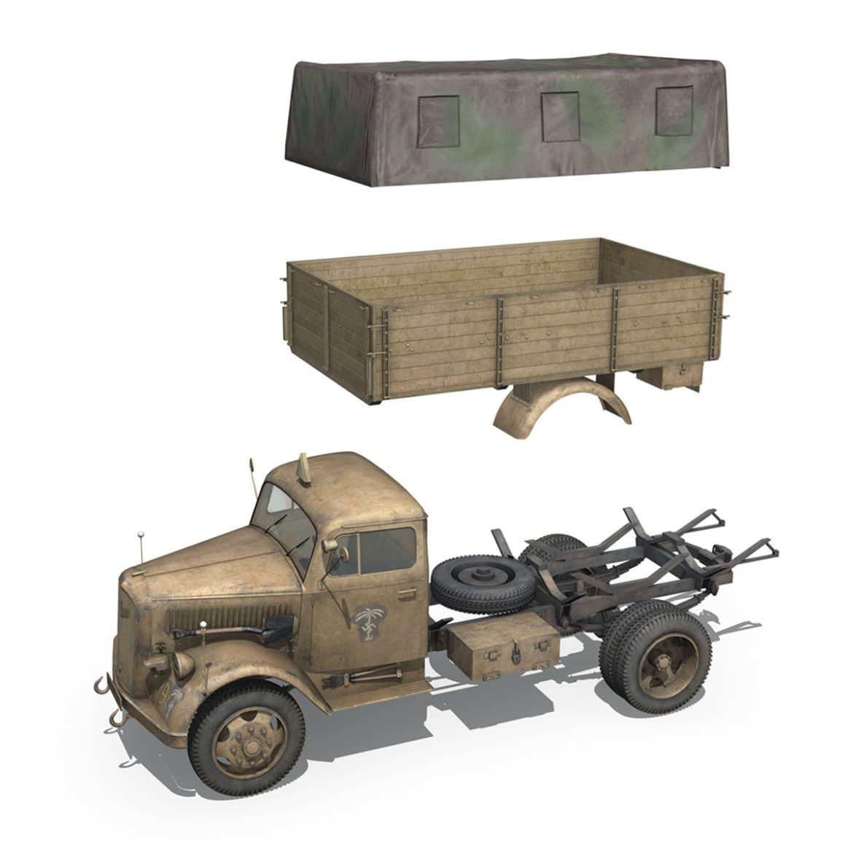 blitz opel - 21 panzer-section 3d model 3ds c4d fbx lwo lw lws obj 306093
