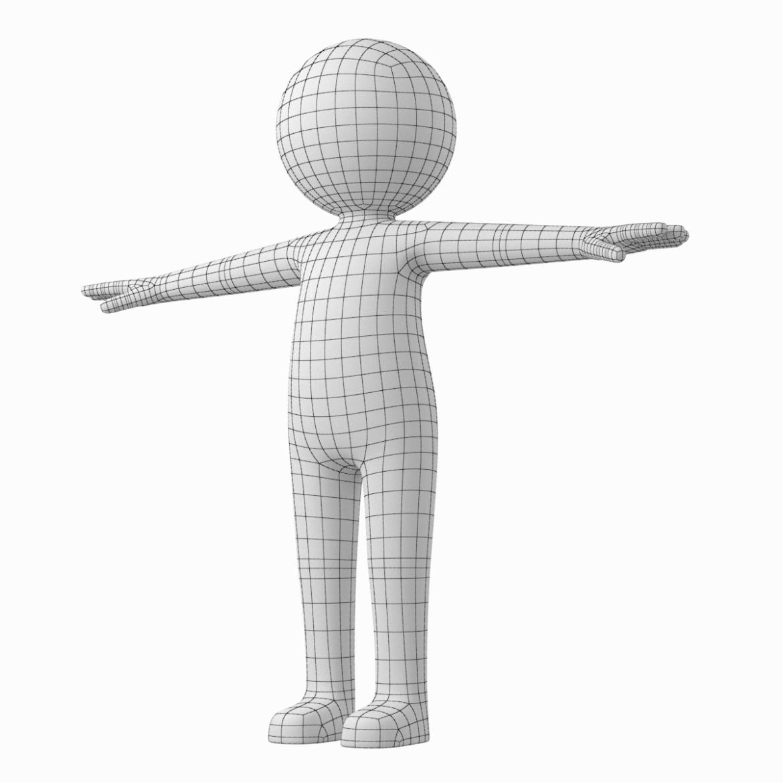 pieaugušais stilizēts stickman in t-pose 3d modelis txt png 3ds max c4d de dwf dxf fbx ma mb obj stl 306203