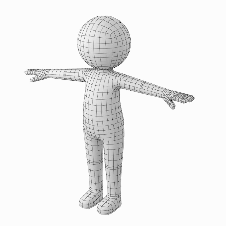pieaugušais stilizēts stickman in t-pose 3d modelis txt png 3ds max c4d de dwf dxf fbx ma mb obj stl 306204