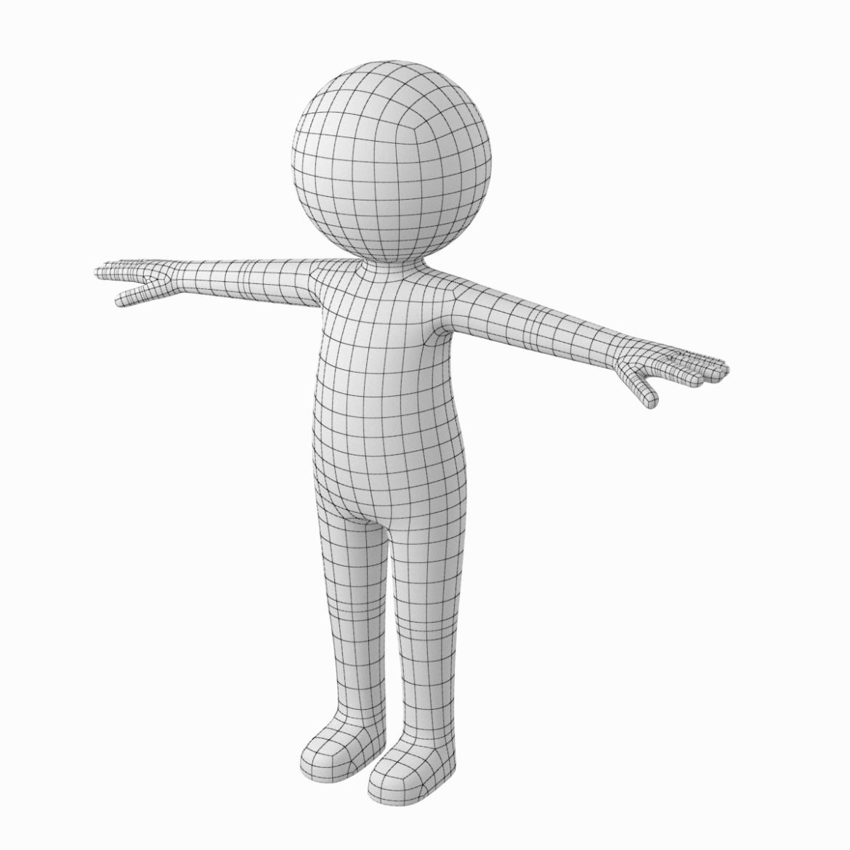 pieaugušais stilizēts stickman in t-pose 3d modelis txt png 3ds max c4d de dwf dxf fbx ma mb obj stl 306205