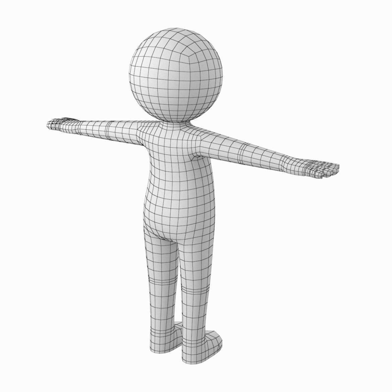 pieaugušais stilizēts stickman in t-pose 3d modelis txt png 3ds max c4d de dwf dxf fbx ma mb obj stl 306207