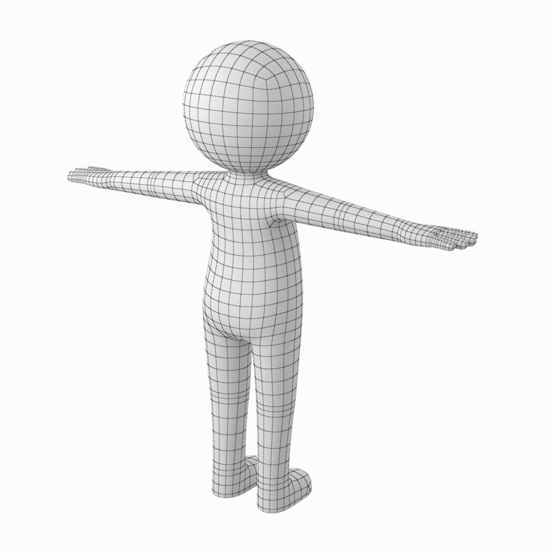 pieaugušais stilizēts stickman in t-pose 3d modelis txt png 3ds max c4d de dwf dxf fbx ma mb obj stl 306208