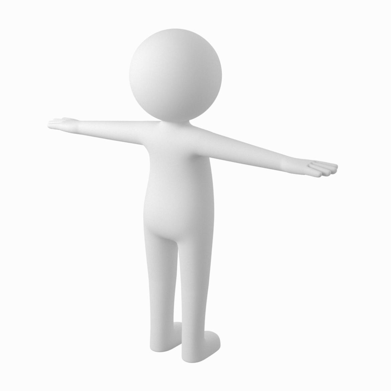 pieaugušais stilizēts stickman in t-pose 3d modelis txt png 3ds max c4d de dwf dxf fbx ma mb obj stl 306209