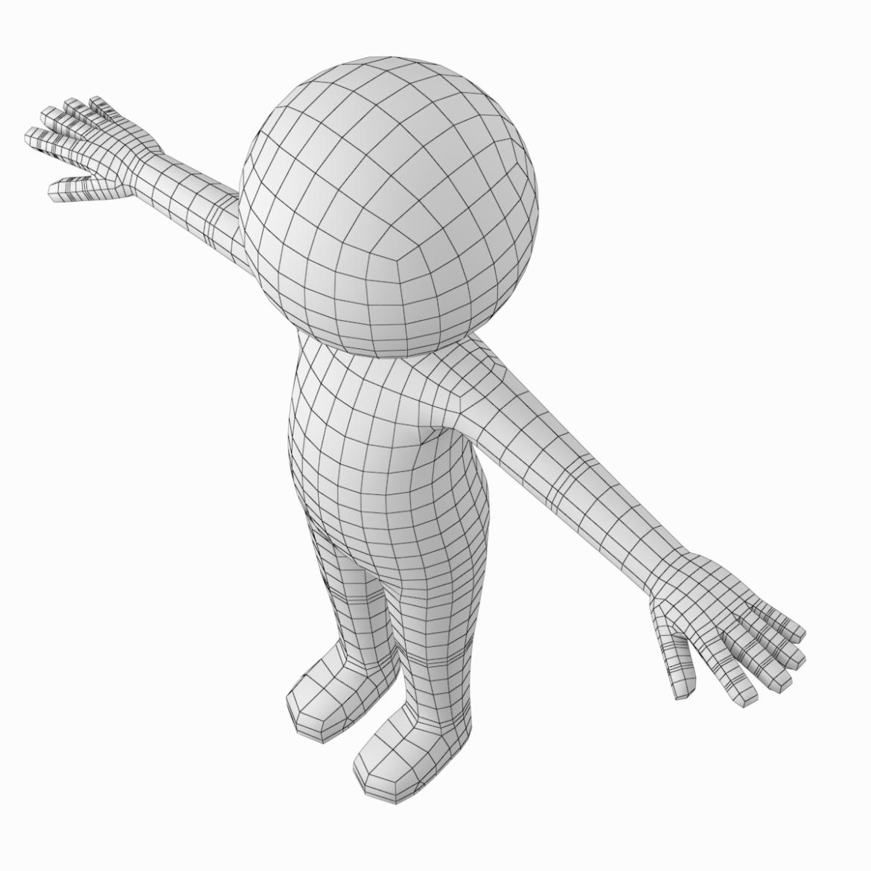 pieaugušais stilizēts stickman in t-pose 3d modelis txt png 3ds max c4d de dwf dxf fbx ma mb obj stl 306210