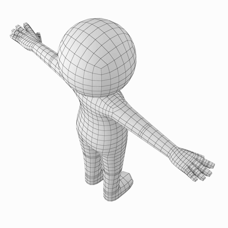 pieaugušais stilizēts stickman in t-pose 3d modelis txt png 3ds max c4d de dwf dxf fbx ma mb obj stl 306213