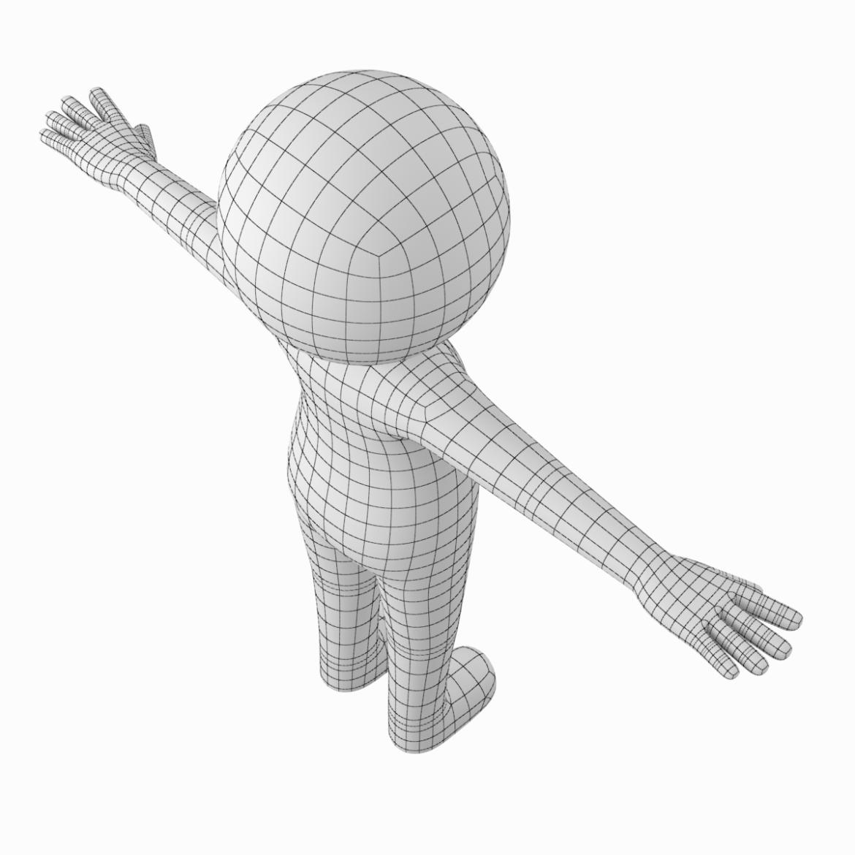 pieaugušais stilizēts stickman in t-pose 3d modelis txt png 3ds max c4d de dwf dxf fbx ma mb obj stl 306214